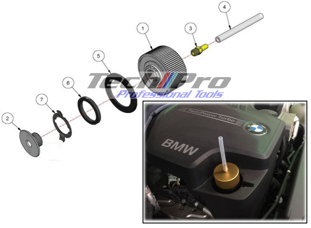 BM-082-1 BMW-N20 Smoke Leak/Vacuum Test Adaptor