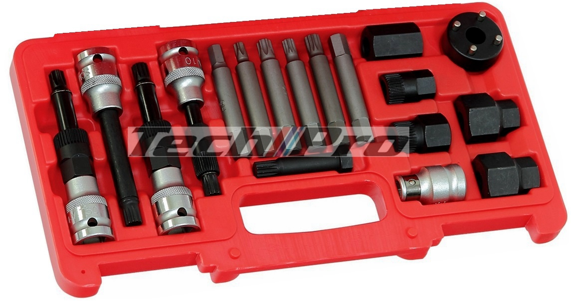 ER-001 Alternator Clutch Pulley Tool Set - 18 pcs