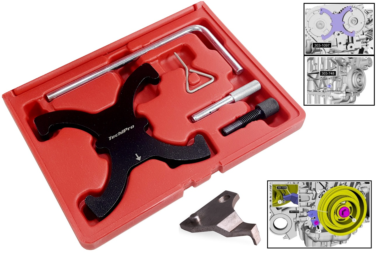 FM-009-B Ford Ecoboost 1.6L Tool set w/Crankshaft Vibration Tool