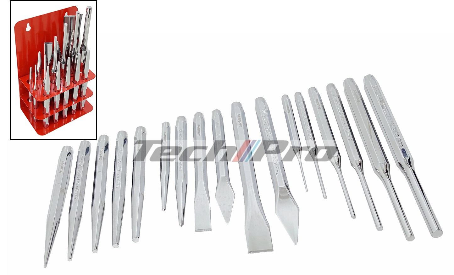 HT-009 - Chisel & Punch Set - 17 pcs
