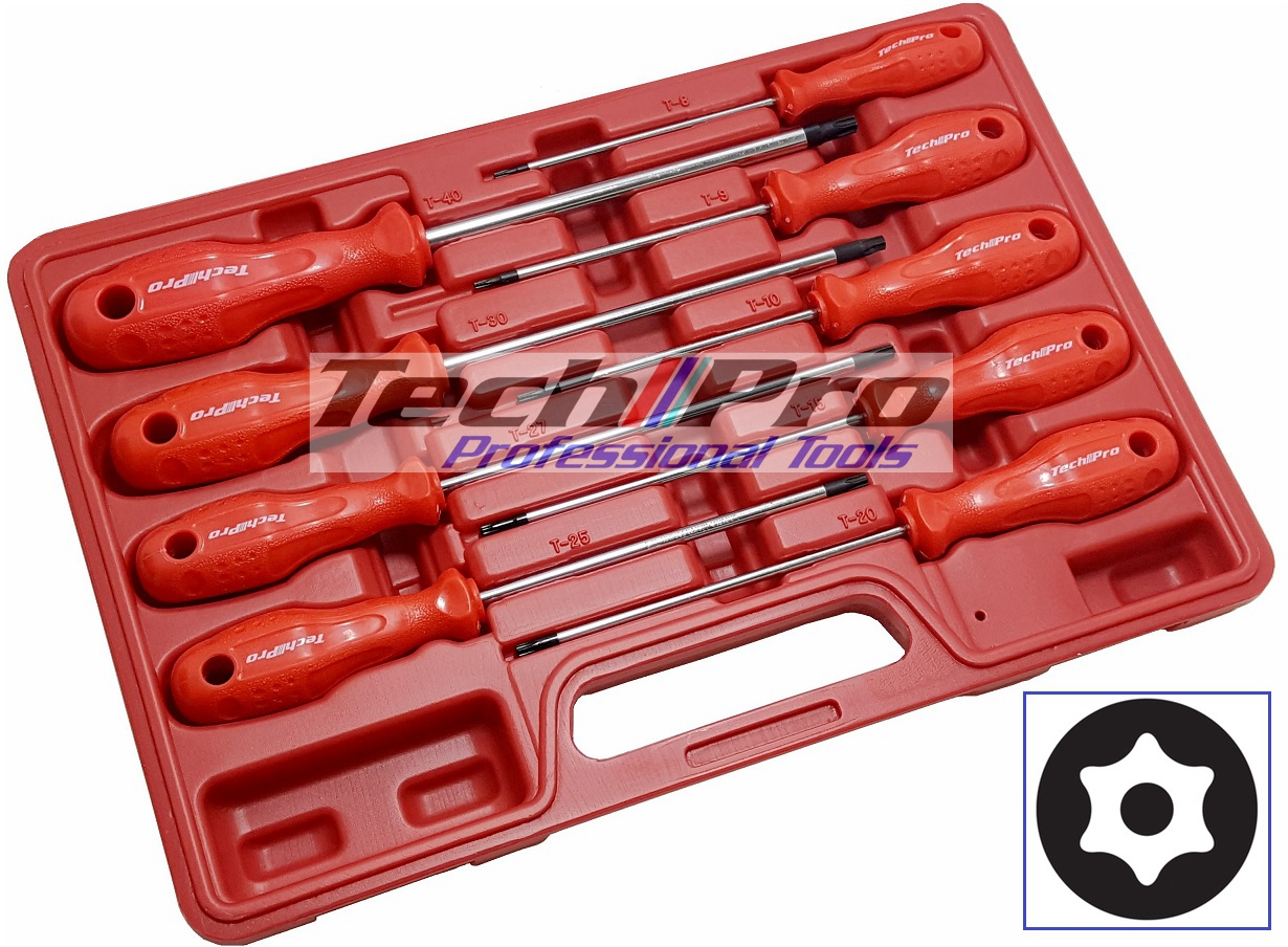 PS-017--Torx Temper Pro Srewdriver Set 9 Pcs