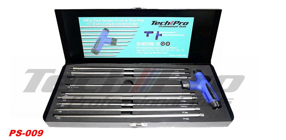 "PS-009 - TORX & TORX Plus - 12"" Extra Long Screw Driver Set"