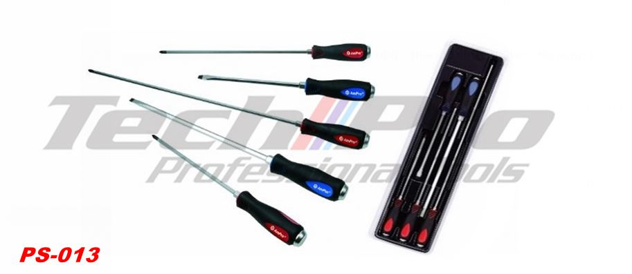 PS-013 - Go Through Screwdriver Extra Long - 5 pcs Set