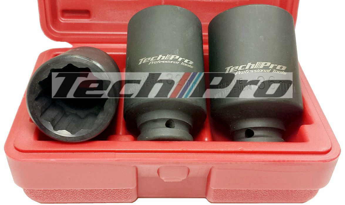 "SK-010 Axle Nut Socket Set - 1/2"" Dr. - Click Image to Close"