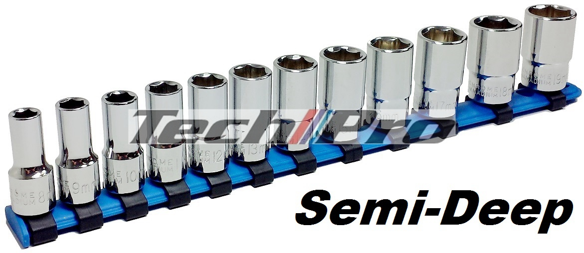 SK-047 - Semi-Deep Socket Set - 12 pcs