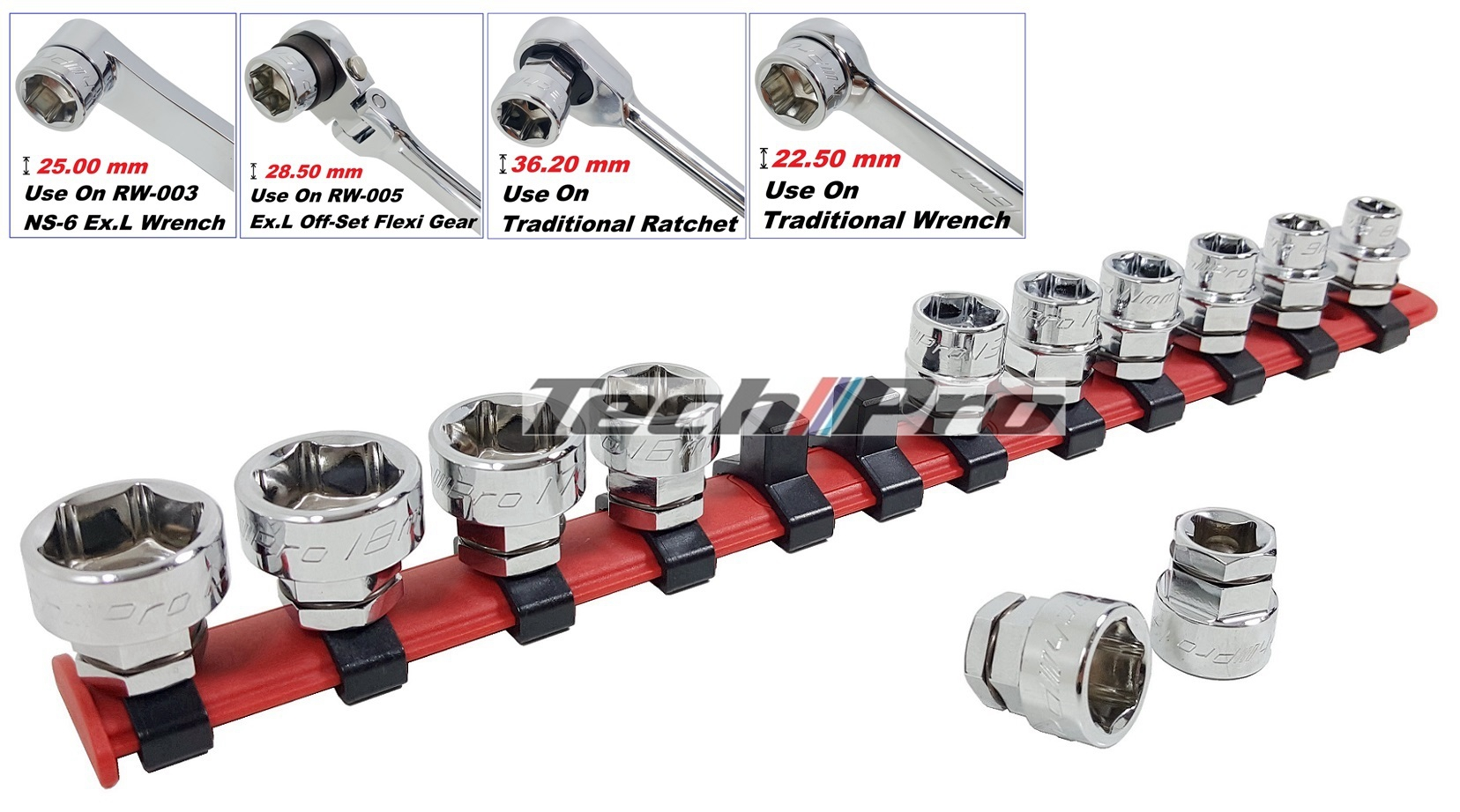SK-051 SLP-Super Low Profile Socket Set