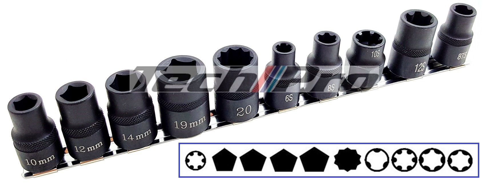 SK-053 Automotive Special Socket Set - 10 pcs