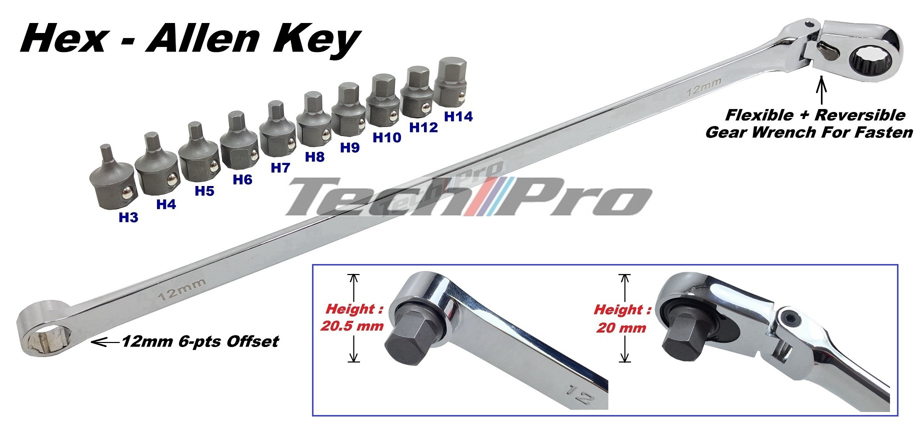 SS020-Hex Bit Set w/OFR Wrench