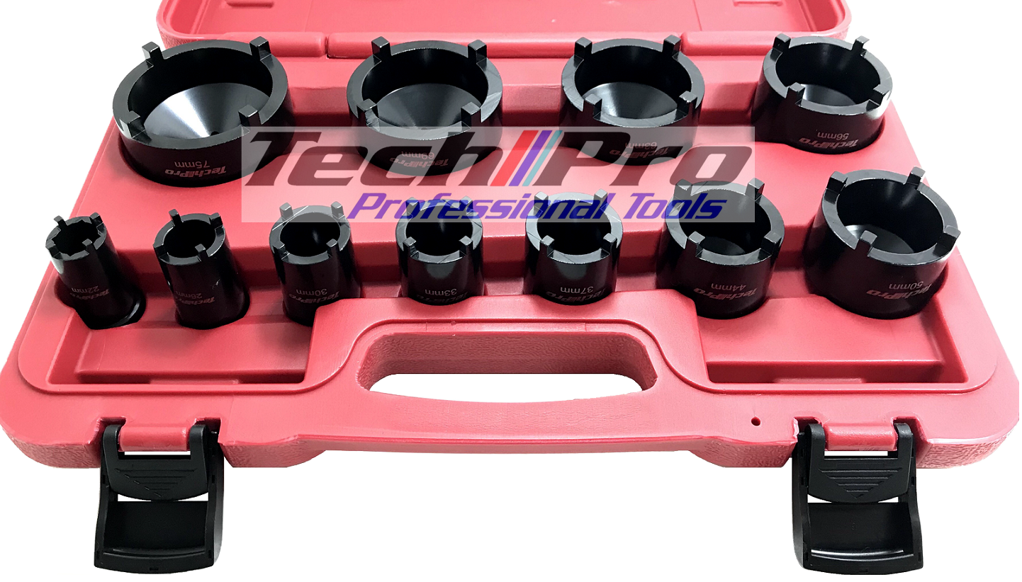 TS-002 Truck - Bearing Nut Socket Set 4 Pin Outer - 11 pcs