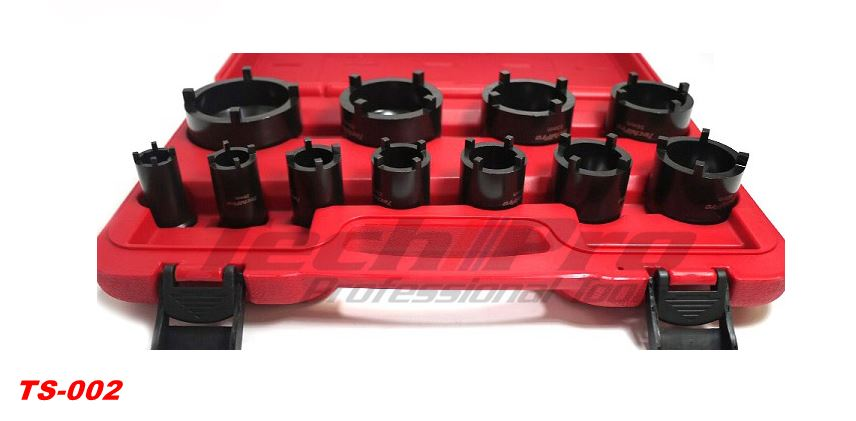TS-002 - Truck - Bearing Nut Socket Set 4 Pin Outer - 11 pcs