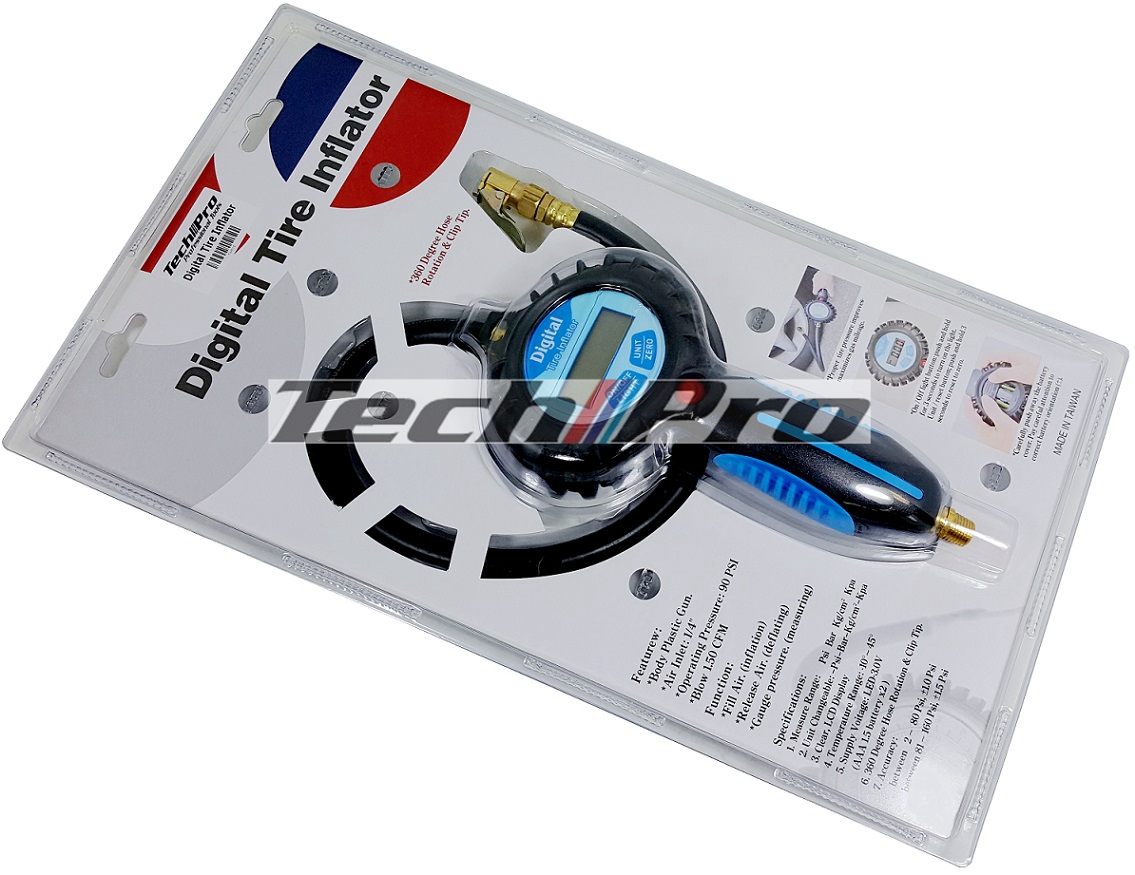 TW-010 Precision Tire Gauge / Inflator - Digital